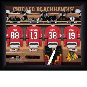 Chicago Blackhawks Personalized Locker Room Print