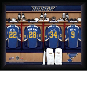 St. Louis Blues Personalized Locker Room Print