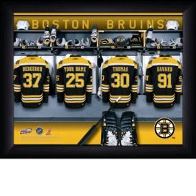 Boston Bruins Personalized Locker Room Print