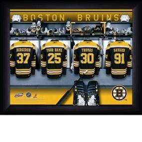 Boston Bruins Personalized Locker Room Print