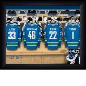 Vancouver Canucks Personalized Locker Room Print
