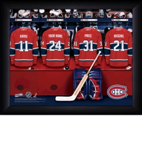 Montreal Canadiens Personalized Locker Room Print
