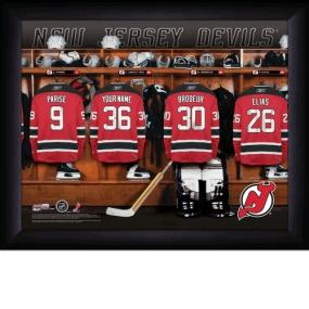 New Jersey Devils Personalized Locker Room Print
