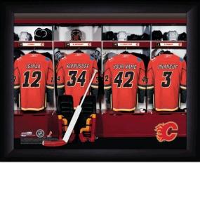 Calgary Flames Personalized Locker Room Print