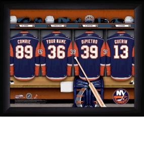 New York Islanders Personalized Locker Room Print