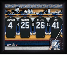 Tampa Bay Lightning Personalized Locker Room Print