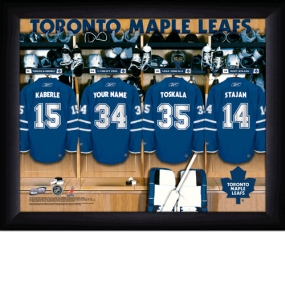 Toronto Maple Leafs Personalized Locker Room Print