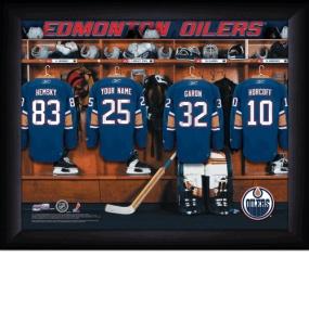 Edmonton Oilers Personalized Locker Room Print