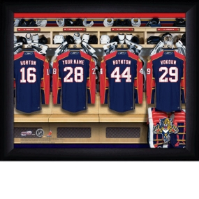 Florida Panthers Personalized Locker Room Print
