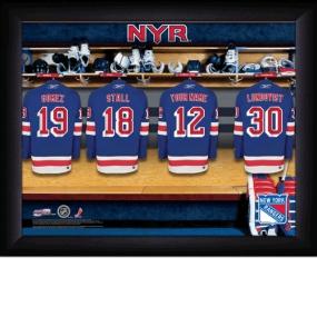 New York Rangers Personalized Locker Room Print