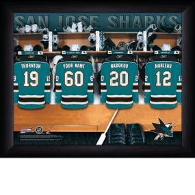 San Jose Sharks Personalized Locker Room Print
