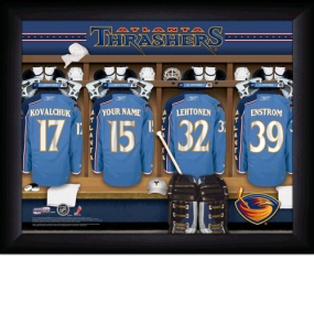 Atlanta Thrashers Personalized Locker Room Print