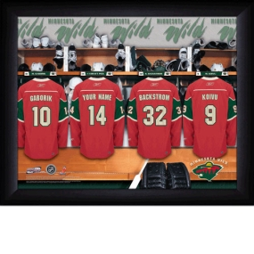 Minnesota Wild Personalized Locker Room Print