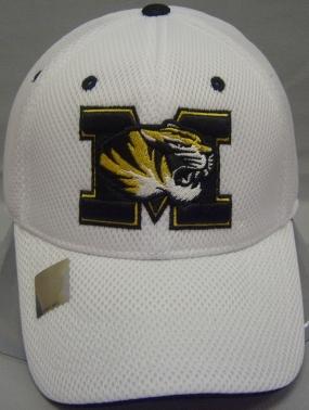 Missouri Tigers White Elite One Fit Hat