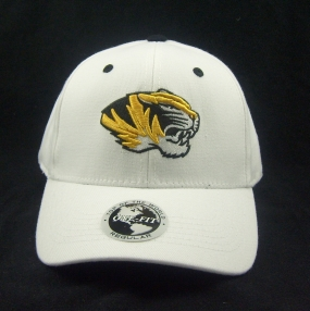 Missouri Tigers White One Fit Hat