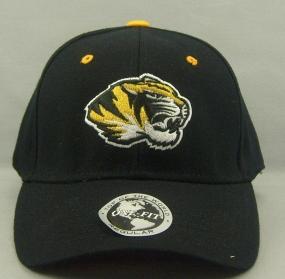 Missouri Tigers Black One Fit Hat