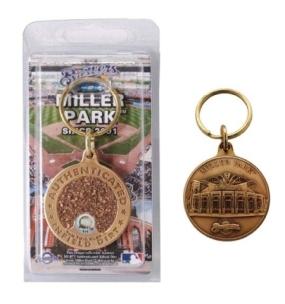 Miller Park Bronze Infield Dirt Keychain