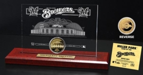 Miller Park 24KT Gold Coin Etched Acrylic