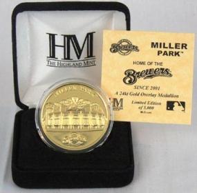 Miller Park 24KT Gold Commemorative Coin