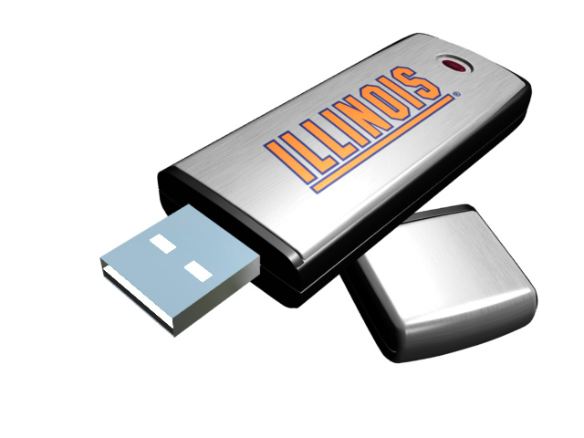 Rhinotronix Illinois Fighting Illini College Memory Stick