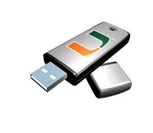 Rhinotronix Miami Hurricanes College Memory Stick
