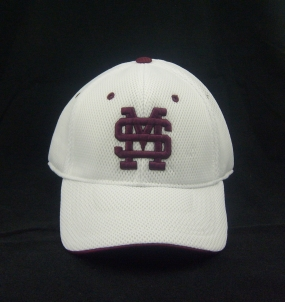 Mississippi State Bulldogs White Elite One Fit Hat