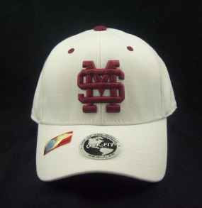 Mississippi State Bulldogs White One Fit Hat