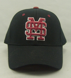 Mississippi State Bulldogs Black One Fit Hat