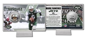 Mark Sanchez Silver Coin Card