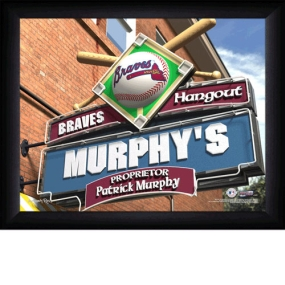 Atlanta Braves Personalized Pub Print
