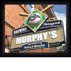 Milwaukee Brewers Personalized Pub Print