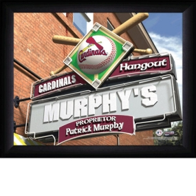 St. Louis Cardinals Personalized Pub Print