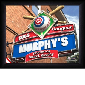 Chicago Cubs Personalized Pub Print