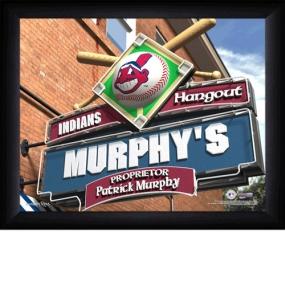 Cleveland Indians Personalized Pub Print