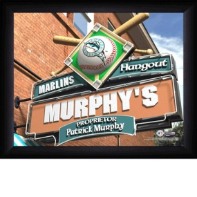 Florida Marlins Personalized Pub Print