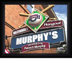 Washington Nationals Personalized Pub Print