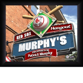 Boston Red Sox Personalized Pub Print
