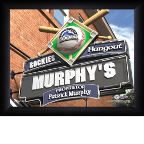 Colorado Rockies Personalized Pub Print