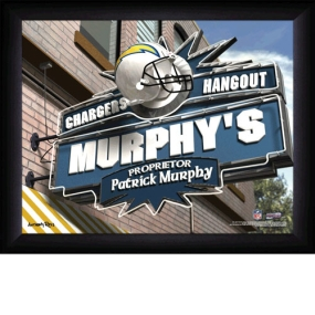 San Diego Chargers Personalized Pub Print