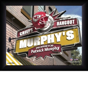 Kansas City Chiefs Personalized Pub Print