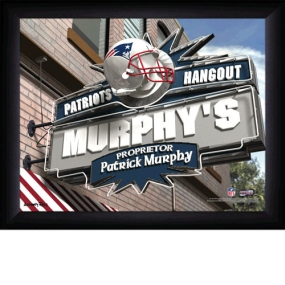 New England Patriots Personalized Pub Print
