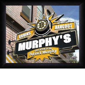 Boston Bruins Personalized Pub Print