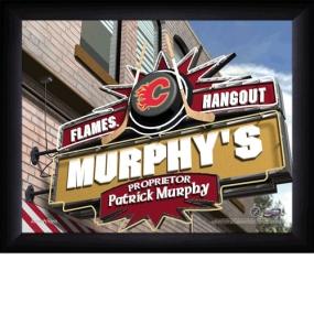 Calgary Flames Personalized Pub Print