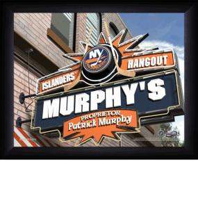 New York Islanders Personalized Pub Print