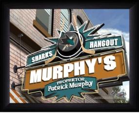 San Jose Sharks Personalized Pub Print