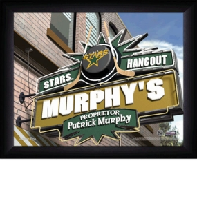 Dallas Stars Personalized Pub Print