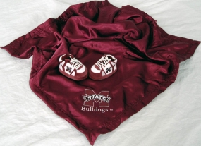Mississippi State Bulldogs Baby Blanket and Slippers
