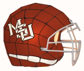 Mississippi State Bulldogs Glass Helmet Lamp