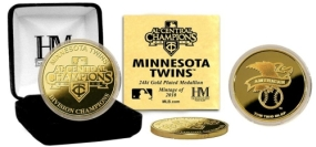 Minnesota Twins 2010 A.L Central Division Champions 24KT Gold Coin