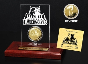 Minnesota Timberwolves 24KT Gold Coin Etched Acrylic